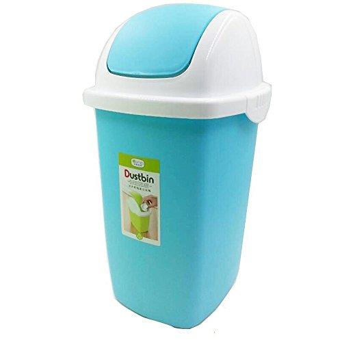 AckMond cestino, Cestino per la spazzatura, per cestino per la carta Bin-Pattumiera con coperchio basculante, 2 l azzurro