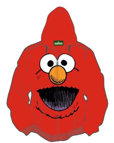 sesame-street-sweat-a-capuche-homme-rouge-x-large