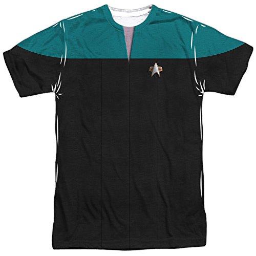 Star Trek Voyager Science Uniform Mens Sublimation Shirt