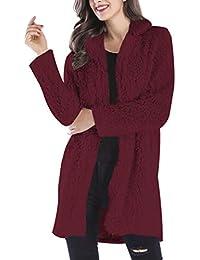 Winter Dicken Langarm Plüsch Warmen Mantel Revers Mantel Locker Bequem Mode  Outwear Cardigan Damen Mantel Jacke 490b040269
