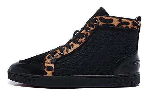 saman-chaussures-femme-bip-bip-paillettes-disco-ball-noir-toile-avec-cheval-cheveux-insert-hightop-s