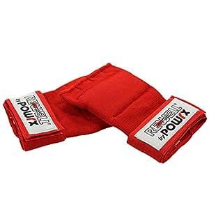Mitaine - Sous gant de boxe - Protection des mains / Noir ou Rouge / Taille Junior ou Senior (Rouge, Junior)