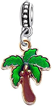 Dangle Coconut Palm Tree Charm Bead