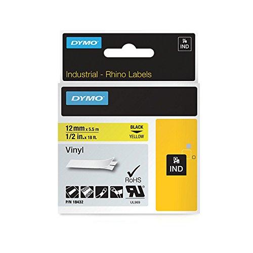 Dymo S0718450 Nastro Etichetta da 12 mm x5.5 m, Giallo