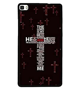 printtech Multi Color Cross Back Case Cover for Huawei P8