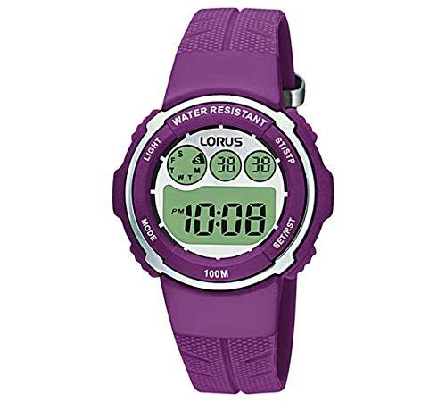 Lorus - Reloj Digital con Correa Morada para Mujer