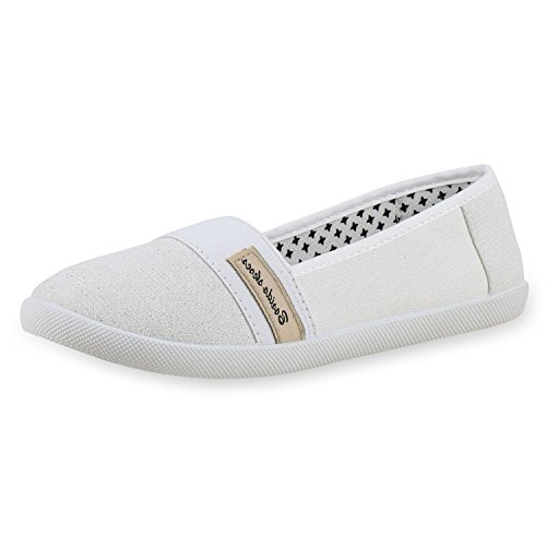 napoli-fashion , Mocassins femme Weiss Bianco