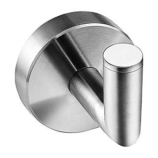 Ambrosya® | Exclusive Towel Rail Made of Stainless Steel | Bathroom Dishcloth Hook Holder Bracket Towel Hook Rack Coat Hooks (Stainless Steel (Brushed))
