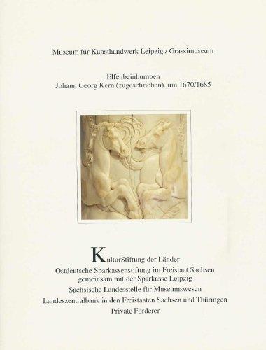 Patrimonia, 219: Elfenbeinhumpen Johann Georg Kern (zugeschrieben) um 1670/1685