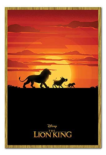 Oak King Poster (Bestrice The Lion King Movie Long Live The King Poster Gerahmt - Oak)