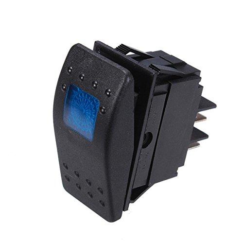 Preisvergleich Produktbild YONGYAO asw-77d Auto-Änderung Schalter mit LED Lampe 12V 20A blau