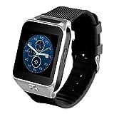 Lemumu GW 06 Männer Frau Smart Watch MTK6572 Dual Core Bluetooth 4.0 Smar twatch 512 MB RAM 4 GB ROM 3G WLAN GPS-Kamera unterstützt SIM-Karte für Android, Schwarz
