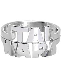 Oficial de Acero Inoxidable Star Wars Logo Cut Out Anillo