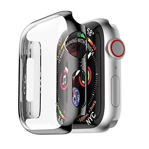 Preisvergleich Produktbild TianranRT Ultra Dünn PC Überzug Fälle Schützend Stoßstange Fall Abdeckung Dünne Plattierung Fällen Schutzstoßkasten-Abdeckung für Apple Watch 4 40 / 44mm