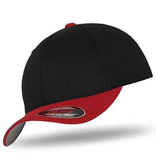 Imagen de flexfit   de béisbol  para hombre negro/rojo large