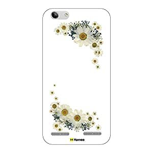 Hamee Original Designer Case from Japan Protective Plastic Hard Cover for Lenovo K5 Plus (Floral frame 5)
