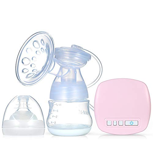 Decdeal Elektrische Milchpumpe Einzelnes Brustpumpe Wenig Lärm Anti Rückfluss Muttermilch Abpumpen BPA Frei inkl Schnuller mit Massage & Absaugung Flaschen Host USB Kabel Adapter