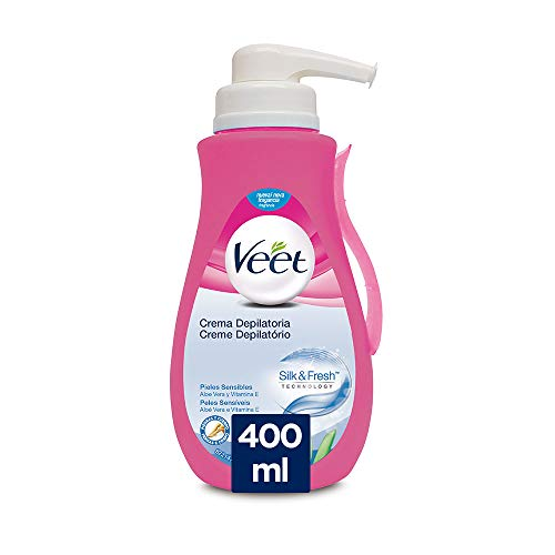 Veet Crema Depilatoria - con Dosificador, Piel Sensible 400ml
