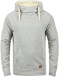 Blend Sales Herren Kapuzenpullover Hoodie Pullover Mit Kapuze  Cross-Over-Kragen Und Fleece… 8a0059d201