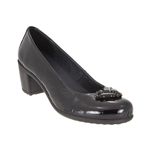 ENVAL SOFT Tänzerin mit der Ferse 49601/00 40 Nero (Schuhe Tänzerin Stiefel)