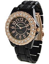 Geneva CZ rodeado watch-black