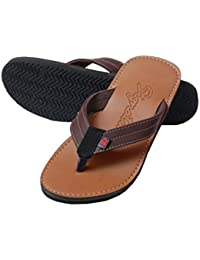 Charan Collections Leather Slippers For Men | Casual Slippers | Outdoor Slippers | Synthetic Leather Slipper |...