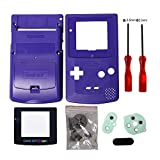 Timorn Sostituzione Case Cover Shell alloggiamento pieno per GBC Gameboy Color (Blau)