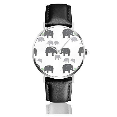 Reloj de Pulsera de Cuarzo con diseño de Elefantes, Color Gris y...