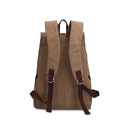 Bwiv Rucksäcke Canvas Unisex Schulrucksack Vintage Schultertasche Daypack Outdoor Backpack Damen Herren Tasche für Retro Reisetaschen Lässige B · Braun A · Kaffeefarbe