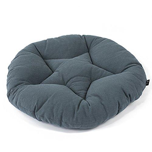Runde wattepads hanf stuhl,Tatami-kissen Weiche Komfortabel Futon Pet mat Volltonfarbe-Grau 40x40cm(16x16inch) (Stuhl-kissen 16x16)