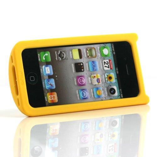 iPhone 4S / iPhone 4G MUG Case Designer Schutzhülle Hülle Tasse ROT mit Selbststandfunktion (Fotos Filme anschauen) Gelb