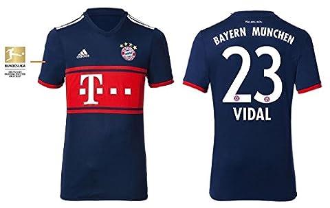Trikot Kinder FC Bayern 2017-2018 Away BL - Vidal 23 (164)