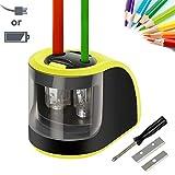 Pencil Sharpener,Upeffeet Convent Electric Automatic Pencil Sharpener 2 Diameters Holes Coal Coloured Pencils