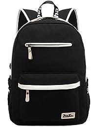 ZeleToile MB- 31 multifonctionnel sac pour les hommes et les femmes - Unisexe Canvas - Sac à dos en cuir - Laptop Backpack cartable pour jeune garçon fille – sac à dos d'école - sac d'épaule - sac de sports occasionnels de Voyage Randonnée - Sac d'ordinateur 13-15 pouces
