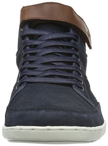 Boxfresh Swich Blok Uh Wxd Sde/Lea, Baskets Basses Homme Bleu - Blau (Navy/Veg Brown)