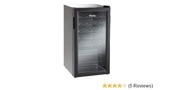 Kühlschrank Minibar Getränkekühlschrank Silber A Edelstahl Glastür 80l : Bartscher g weinkühlschrank bouteilles amazon