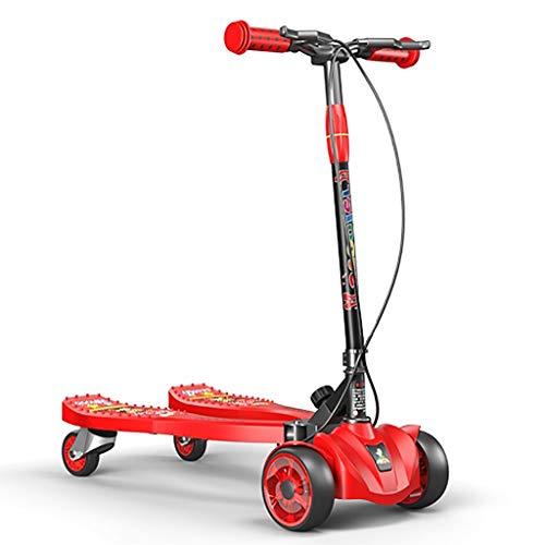 WGE Kinder Kinder-Jugend-Stepper-Roller for Jungen und Mädchen ab 3 Jahren mit fortschrittlicher Doppelpedal-Aktion und einem Gewicht von 50 kg