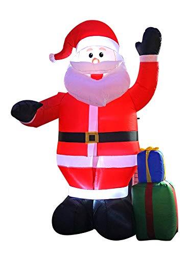 JF deco 2.4m aufblasbare Weihnachtsweihnachtsmann-Dekoration, Inneninnendekorationen im Freien (Blow Up Halloween-dekorationen Uk)