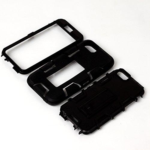iPhone 6 / 6s Hülle, FindaGift 3 in 1 Hybride Handycover Hartschale Cover Roboter Guard Schutzhülle Innere PC Case Weich Silikon Back Rüstung Ganzkörper-Schutz [Bruchsicher] [Anti-Rutsch] Handytasche  Schwarz