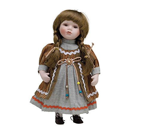 Muñeca de Porcelana de 30 cms con soporte. INGRID - BAM010