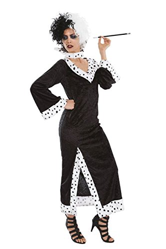 08791d57d Chaks - C4173XL - Disfraz para adulto de Cruella de Vil (101 dálmatas) -  Talla XL