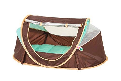 LUDI - Tente nomade 'Chocolat' pour bébé, dès la naissance. Lit d'appoint léger (moins de 2 kg) + matelas...