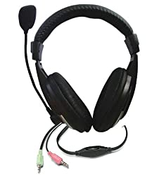 Zebronics ZEB-100HMV Headphone with Mic and Volume Control (Black)