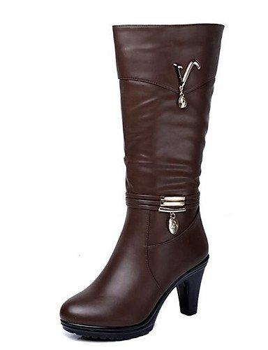 ShangYi Mode Frauen Schuhe Damen Stiefel Frühjahr / Herbst / Winter Combat boots and Outdoor / Kunstleder Ferse OthersOthers Braun