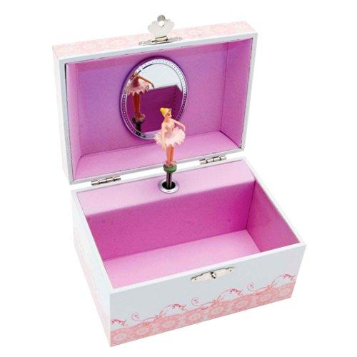 prezzo Mele & Co, ballerina graziosa con scarpette da danza in un carillon portagioie.