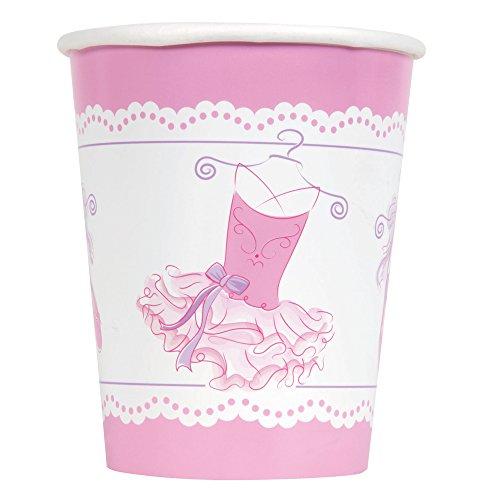 Ballerina-Pappbecher, 266ml, pink, 8Stück