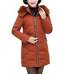 679d9891aef0 Kasen Femme Manteau Couleur Unie Épaissir Manches Longues À Capuche Élégant  Veste Matelassée