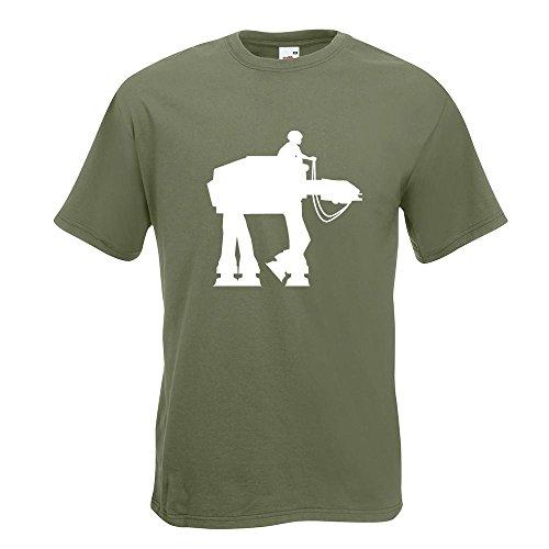 KIWISTAR - Anakin AT-AT T-Shirt in 15 verschiedenen Farben - Herren Funshirt