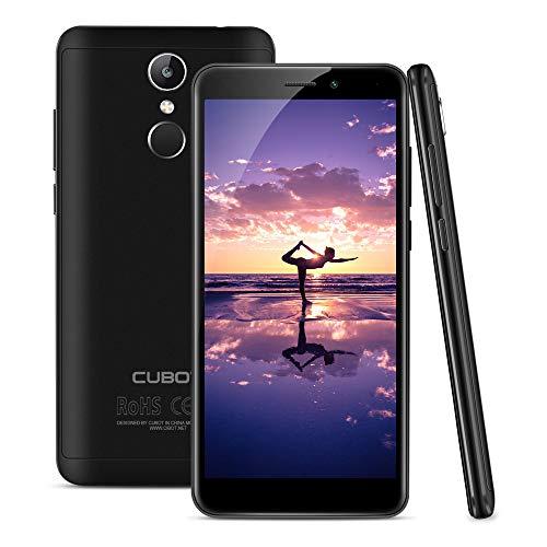 CUBOT Nova 2018 4G LTE Smartphone ohne Vertrag, 5.5 18:9 HD+ IPS Display, Android 8.1, Quad-Core MT6739 1.5GHz, 3GB/16GB, Dual Kameras, Dual SIM, Dual 4G Netzwerk, Fingerabdruckerkennung (Schwarz)