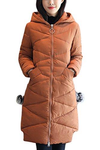 Un Hiver À Des Vestes De Parkas De Bouffées Manteau brown